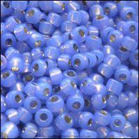 8/0 Violet Silver Lined Alabaster Miyuki Seed Beads - 8-649