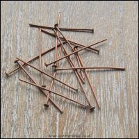30mm Copper Coloured Head Pins
