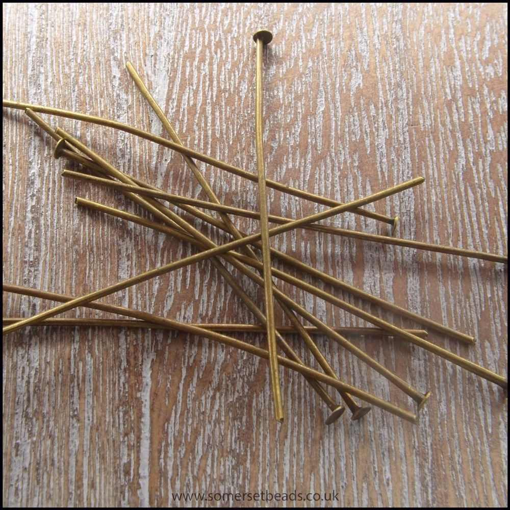 50mm Bronze Head Pins