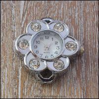 Flower Shaped Rhinestone Watch Face For Jewellery Making