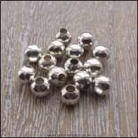 6mm Silver Round Spacer Beads