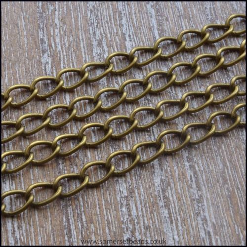 Antique Bronze Curb Chain 5.5mm x 3.5mm