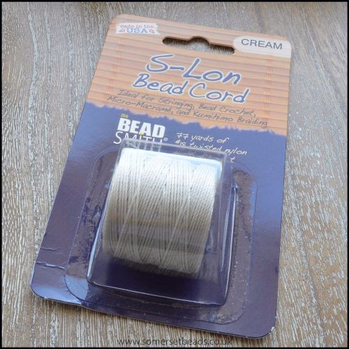 Beadsmith S-Lon #18 Twisted Bead Cord - Cream