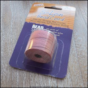 Beadsmith S-Lon #18 Twisted Bead Cord - Rose
