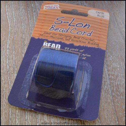 Beadsmith S-Lon #18 Twisted Bead Cord - Capri Blue