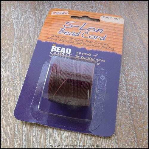 Beadsmith S-Lon #18 Twisted Bead Cord - Egg Plant