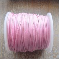 1mm Pink Waxed Cotton Cord