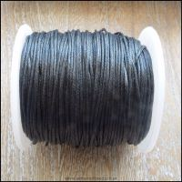 Black 1mm Waxed Cotton Cord