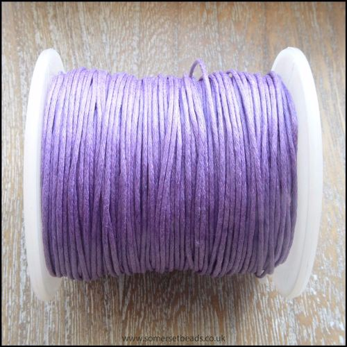 Purple 1mm Waxed Cotton Cord