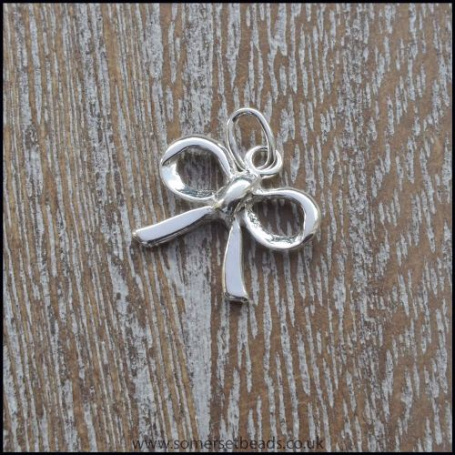 Sterling Silver Bow Charm