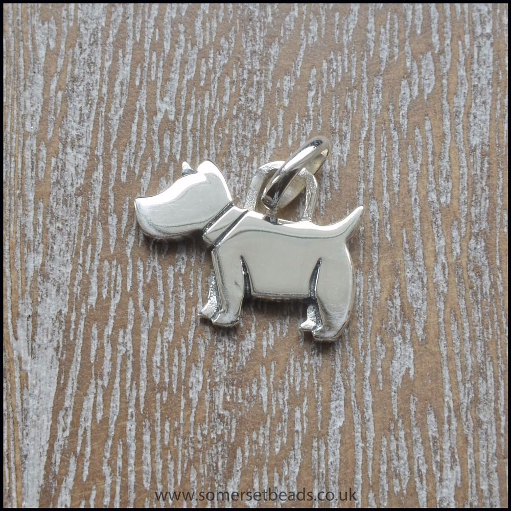 925 Sterling Silver Dog Charm