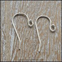 Sterling Silver 925 Earring Hooks With Bead 20mm