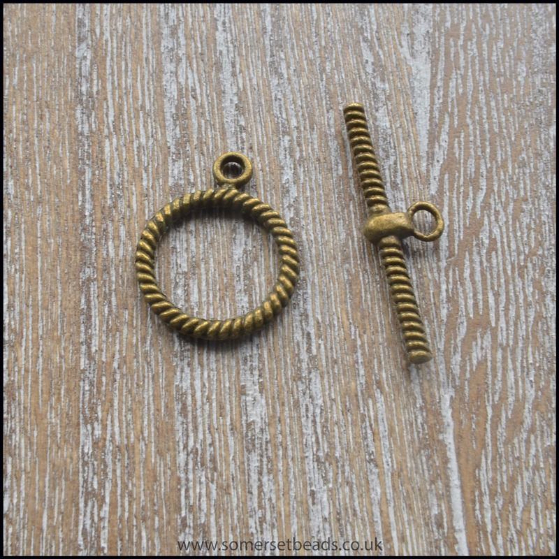Medium Bronze Toggle Clasps