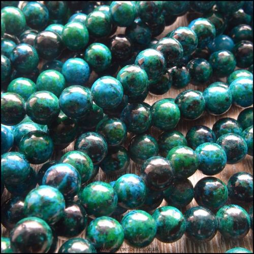 8mm Chrysocolla Plain Round Beads