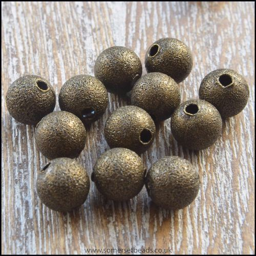 6mm Bronze Stardust Beads