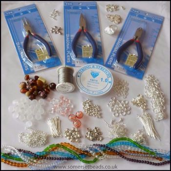 Jewellery Making Starter Kit Including Pliers