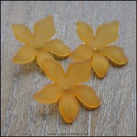 Orange Lucite Flower Beads 29mm x 27mm Pk 10