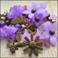 Limited Edition Purple and Bronze Beading Pack