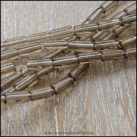 Smokey Brown Glass Tube Beads