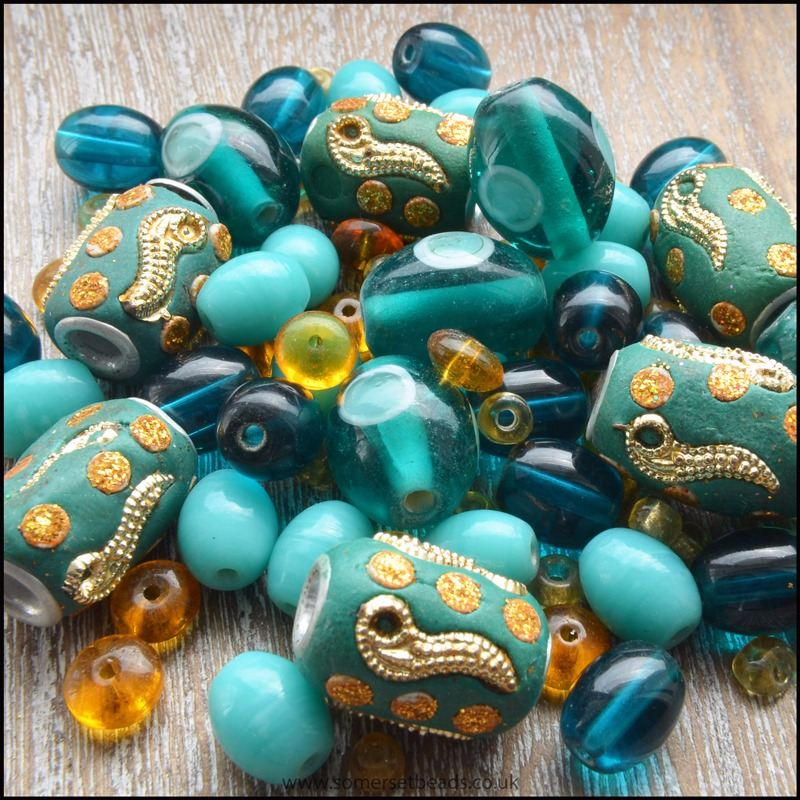 Teal & Gold Kashmiri Design Pack -