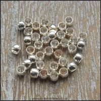 silver plated crimp beads