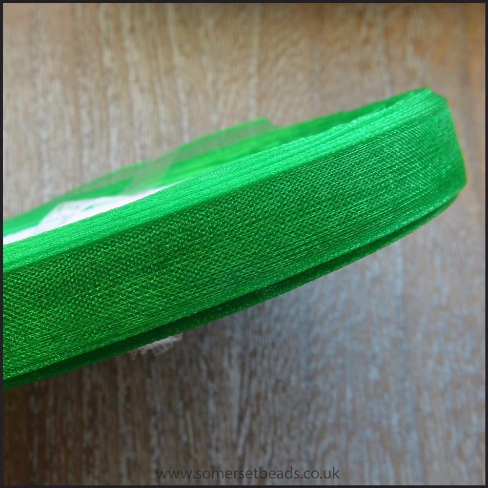 Green Organza Ribbon