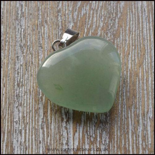 Aventurine Heart Shaped Semi Precious Gemstone Pendant