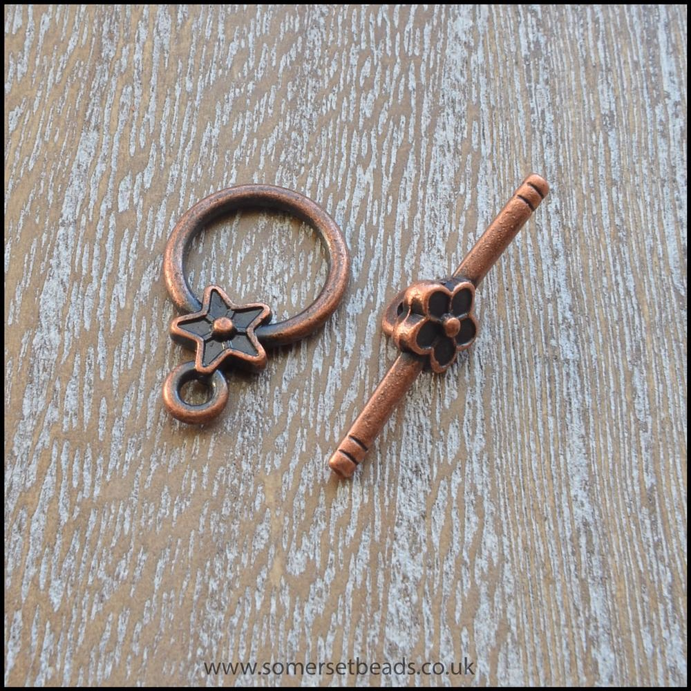 Copper Star Toggle Clasps