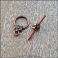 Copper Star Toggle Clasps
