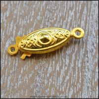 Gold Single String Fish Hook Box Clasps