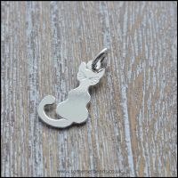 Sterling Silver Cat Charm - 20mm