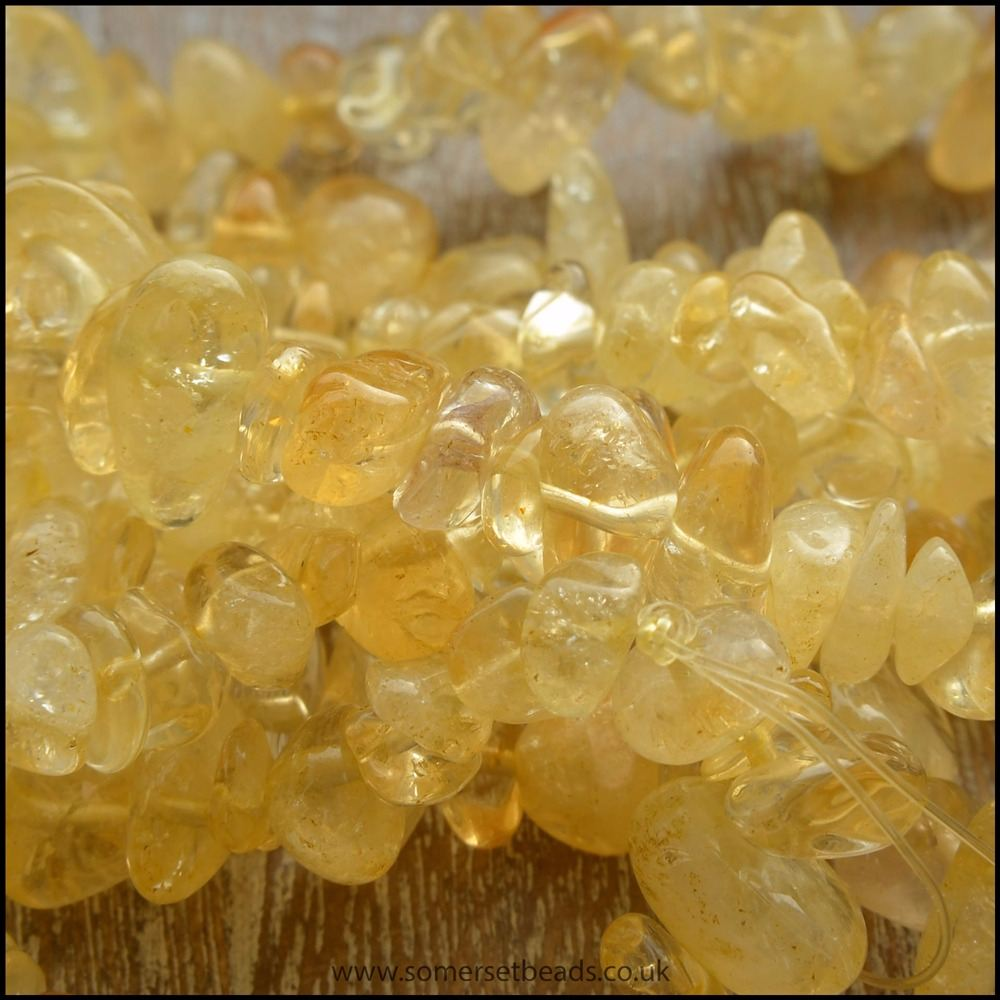 Citrine Semi Precious Gemstone Chips