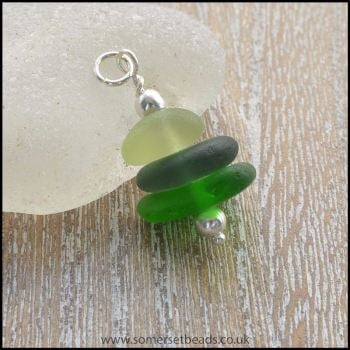 Sea Glass Stack Pendant - A