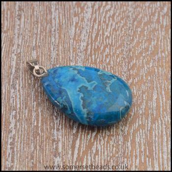 Turquoise Jasper Teardrop Semi Precious Gemstone Pendant