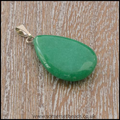 Malay Jade Semi Precious Gemstone Teardrop Pendant