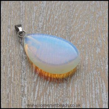Opalite Semi Precious Gemstone Teardrop Pendant