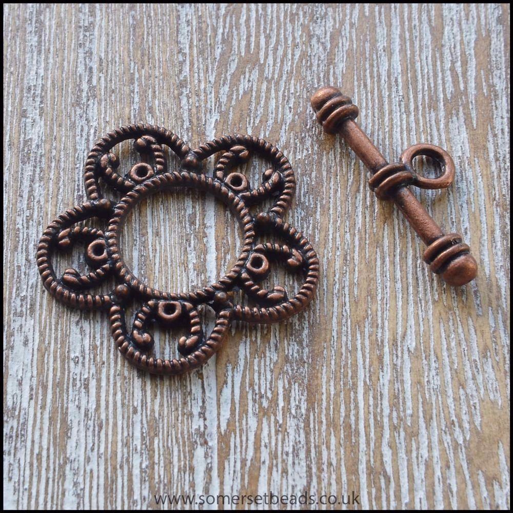 Copper Toggle Clasps