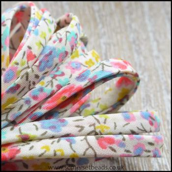 Liberty Of London Spaghetti Ribbon 4mm Phoebe Blue / Rose Mix