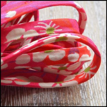 Liberty Of London 4mm Spaghetti Ribbon Pepper Hot Pink
