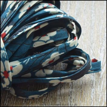 Liberty Of London Spaghetti Ribbon 4mm Pepper Marine
