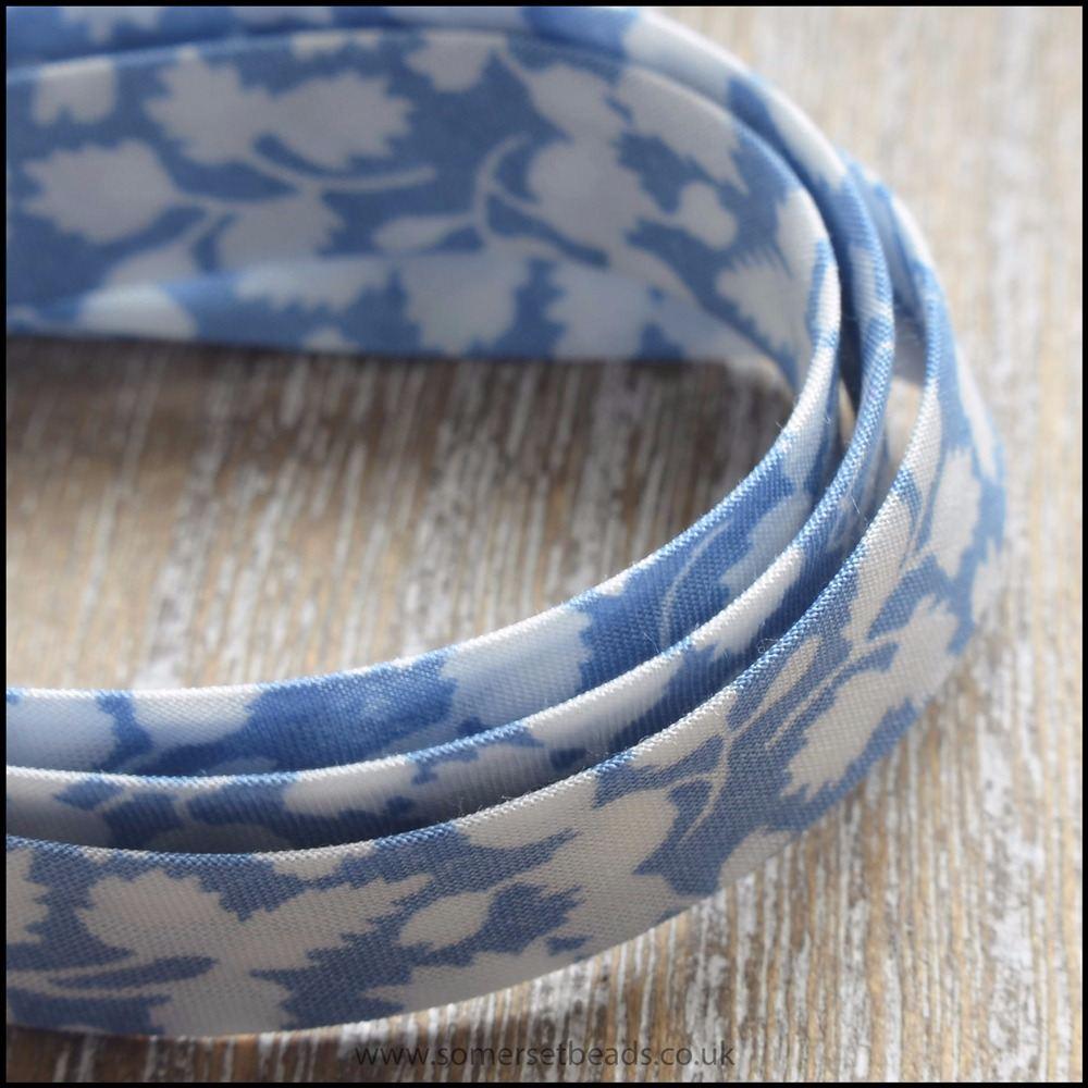 Liberty of London Bias Ribbon - Glenjade Light Blue - 10mm