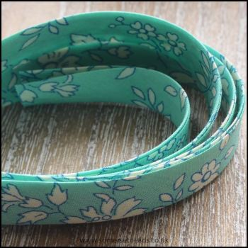 Liberty Of London Bias Ribbon 10mm Capel Turquoise