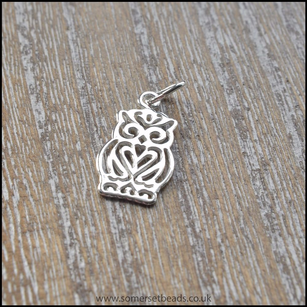 Sterling Silver Open Owl Charm