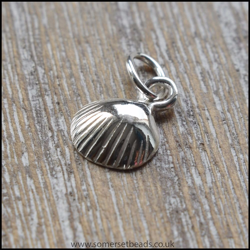 Sterling Silver Clam Shell Charms
