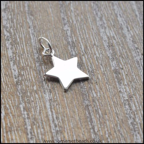 Sterling Silver Flat Star Charm