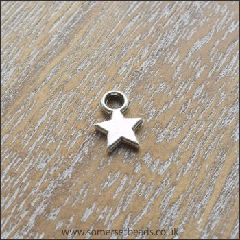 Small Silver Star Charms