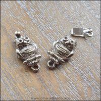 Owl Design Silver Box Clasp