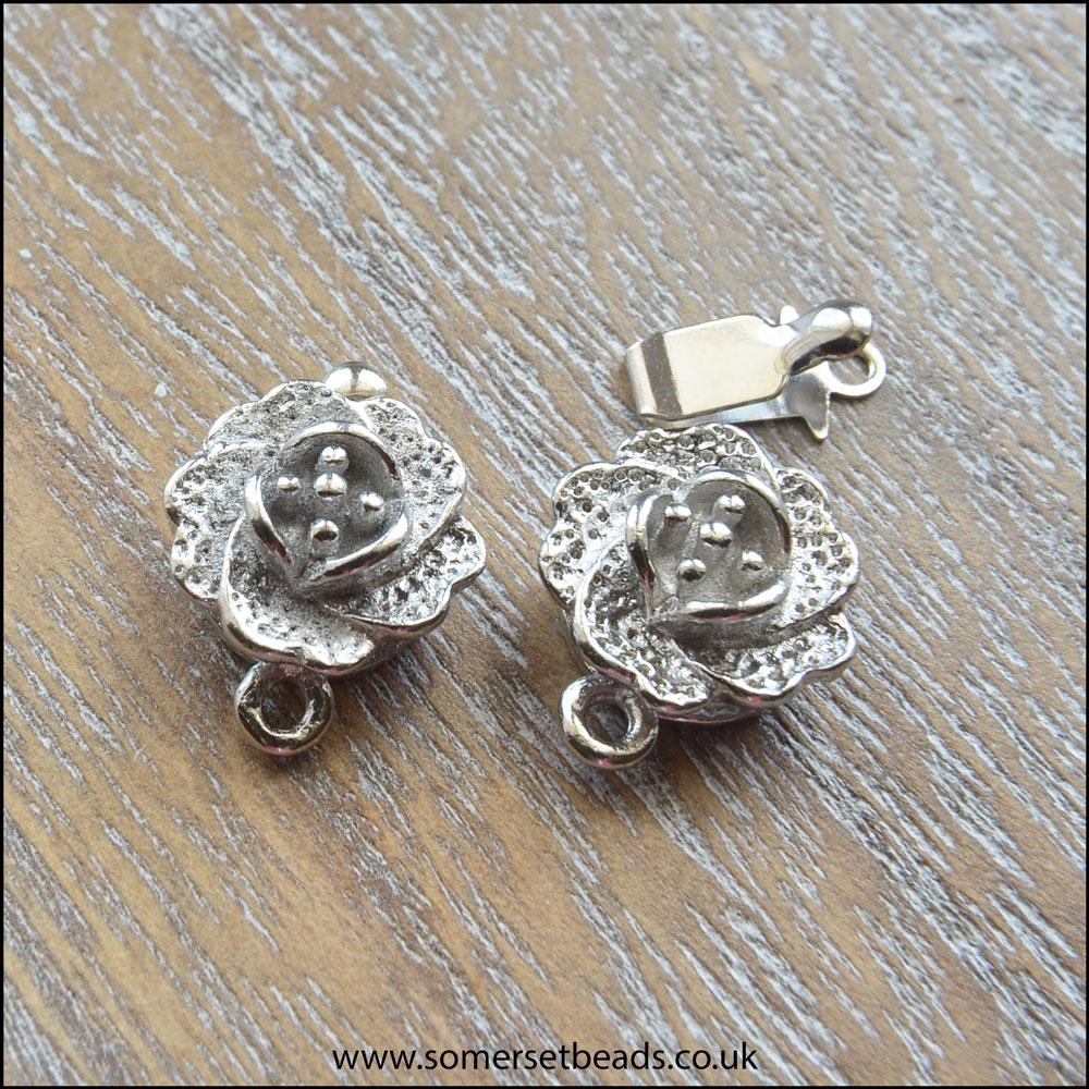 Silver Rose Box Clasp