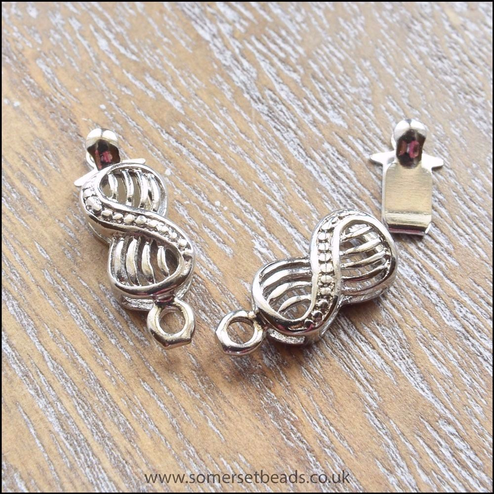 Silver Infinity Box Clasps