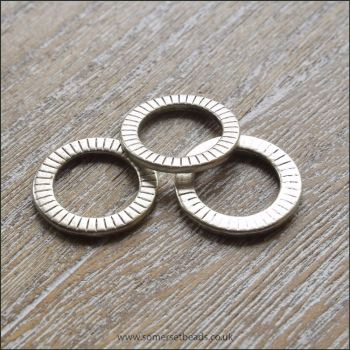 Antique Silver Flat Patterned Rings
